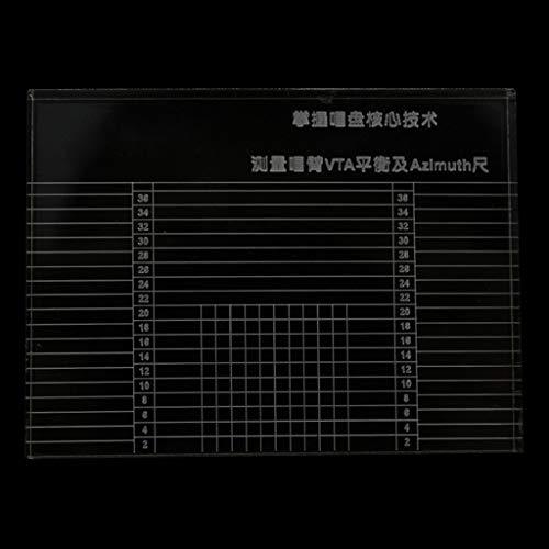 Tonarm-Messgerät für Vinyl-Plattenspieler, VTA-Ausgleichskartusche, Azimut-Lineal