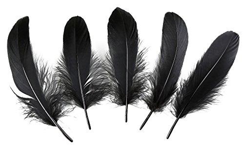 Pluma de ganso para decoración del hogar, 100 unidades, 15 – 20 cm, para centros de mesa de boda...