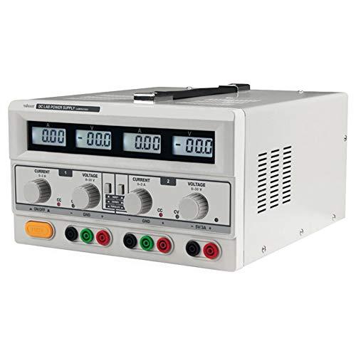 Velleman LABPS23023 Alimentatore da Laboratorio DC Doppio con 4 Display LCD, 240 V, Multicolore