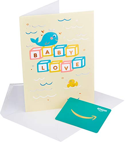 Amazon.com Gift Card in a Premium Greeting Card by American Greetings (Baby Love Design)