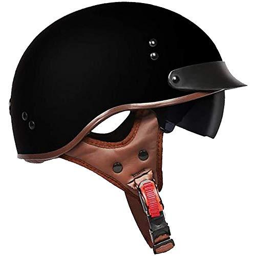 ZYW Erwachsener Kind-Hut-Motorrad-Halber Helm Retro Erwachsener Helm Motorrad Harley Halb Helm Punkt Zertifizierung Domineering Art Fahrrad-Roller-Halber Helm M, L, XL, XXL,Style 4,L