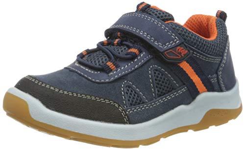 Lurchi Jungen Melvin Sneaker, Blau (Jeans Orange 22), 29 EU