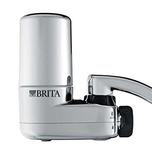 Brita Faucet Water Filter System with Light Indicator, Chrome