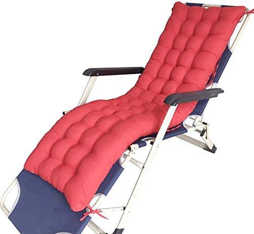 JBNJV Cuscini per lettini Prendisole Cuscino per sedie a Sdraio Cuscino per sedie da Giardino Portatile Patio Letto Imbottito Spesso Reclinabile Panca Relax Coprisedile per Viaggi Vacanze al Coper