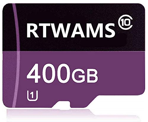 RTWAMS Micro SD Card 400 GB Class 10 Micro SDXC Card TF Card C10 Memory Card with Free SD Adapter for Android Smartphone/Bluetooth Speaker/Tablet/Drone (400GB)