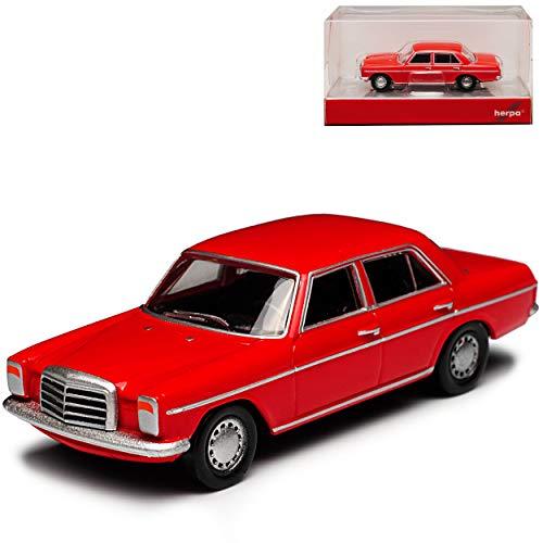 Mercedes-Benz 200 /8 Strich Acht Limousine Rot W114 W115 1967-1976 H0 1/87 Herpa Modell Auto