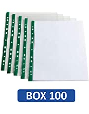 Oxford, Punched Pockets A4, 100 Poly Pockets