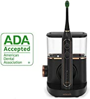 Waterpik Sonic-Fusion Professional Flossing Toothbrush, Electric Toothbrush & Water Flosser Combo in One, SF-02 Black