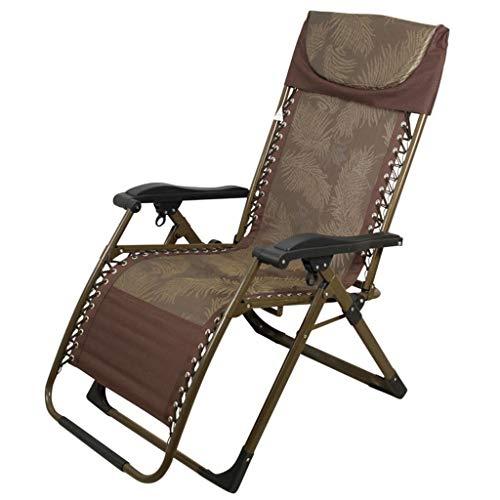 SjYsXm-Chaise longue Fauteuil de terrasse de Repos extérieur pour chaises de Patio inclinable Pliant réglable en Textile résistant aux intempéries pour la Piscine de véranda (Couleur : A)