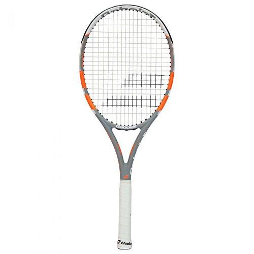 Babolat Rival 100 Strung Raquetas de Tenis, Hombre, Gris/Naranja, 3