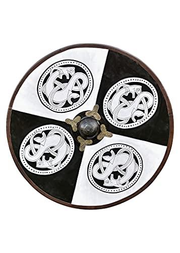 Battle-Merchant Wikinger Rundschild, aus Holz, mit Greiftier-Bemalung - Schild