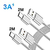 Cable P20 P30 Mate 20 Lite,Chargeur USB Type C Pour Sony Xperia 1 5 10/L3 XA1 XA2 Plus Ultra/L2 L1/XZ3 XZ2 XZ1 XZ Premium Compact XZS,Huawei P20 P30 Pro,Oppo Reno Z/RX17 Pro,Charge Rapide Cordon 2M 2M