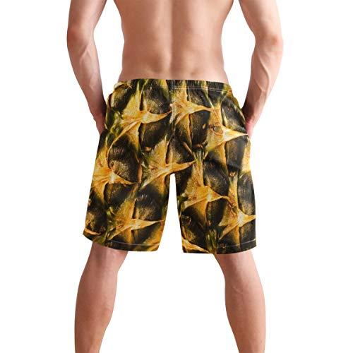 Close-Up - Bañador de piña para hombre con textura despegada de secado rápido, pantalones cortos de poliéster con bolsillos, talla S Multicolor multicolor Medium