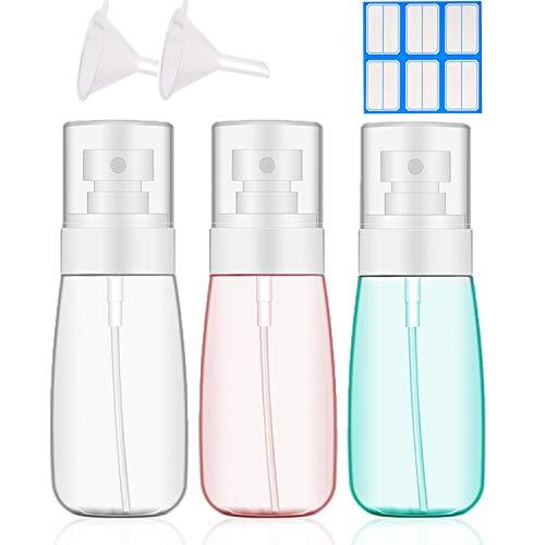 Fine Mist Sprayer,MEKK 3PACK Small Travel Spray Bottle Fine Mist Spray Bottles,3PCS Mini Alcohol Spray Bottle Liquid Cosmetics Containers,Empty Bottles for Alcohol Disinfectant(60ML)