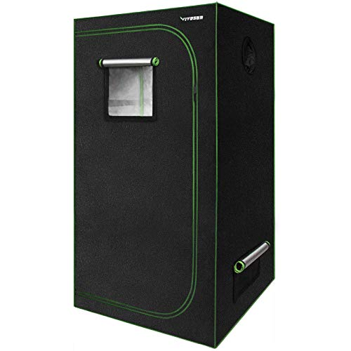 VIVOSUN 36'x20'x62' Mylar Hydroponic Grow Tent with Observation Window and Floor Tray for Indoor Plant Growing