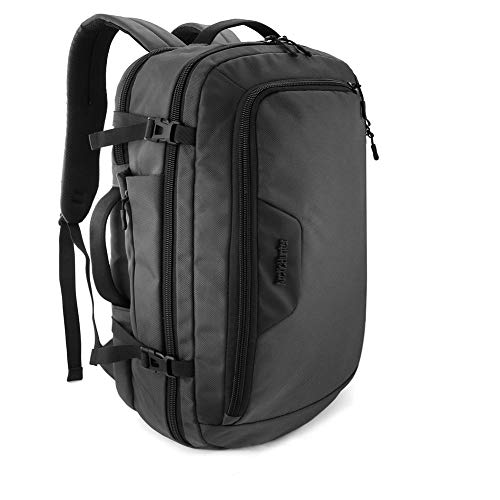 Tikea Zaino Business da Viaggio e Porta PC per Laptop da 17 pollici con Porta di Ricarica USB 2.0 e Auricolari Impermeabile Antifurto Nero