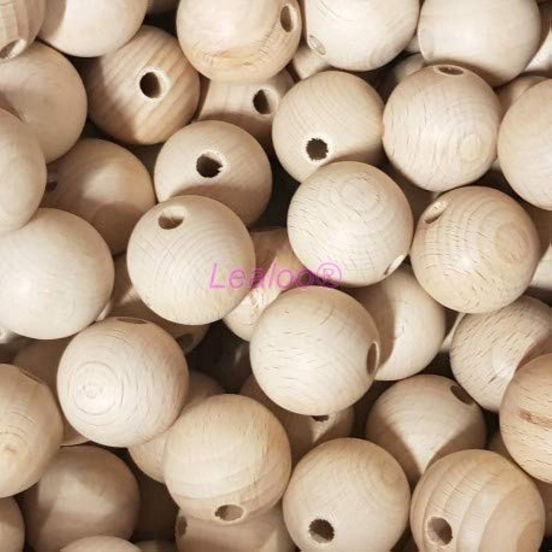 Lealoo 25 Stück Kugeln aus Buchenholz, Durchmesser 50 mm, Bohrung 8 mm B07J1Y7BG2 | Bevorzugtes Material