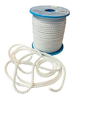 Polyesterseil 50 m x 6 mm - Seil weiß auf Rolle Allzweckseil, Strick, Leine, Flechtleine – Hochwertiges Seil aus 100{7f4c09960e96927565c66db2c9cb0971899a6f0548b8ff5f3868a4132415966e} Polyester - Bruchlast: 500 kg