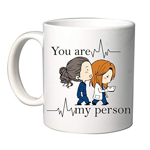 Mr. Gadgets Tazza in Ceramica con Citazione Serie TV You Are My Person