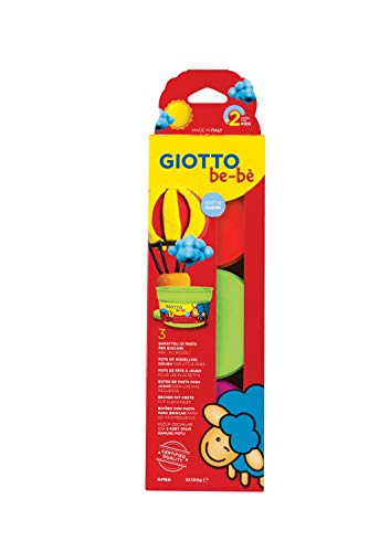 Giotto Be-Bè Pasta Para Jugar 100 G. Estuche 3 Uds. (Naranja + Magenta + Verde)