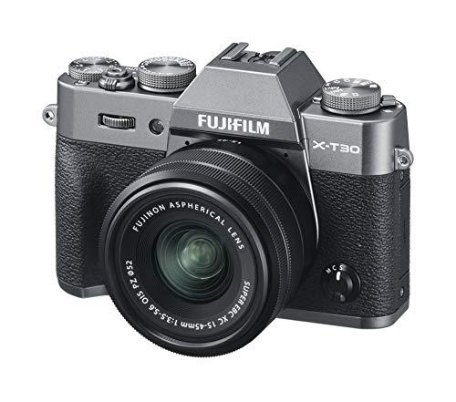 FUJIFILM ミラーレス一眼カメラ X-T30XCレンズキット チャコールシルバー X-T30LK-1545-CS