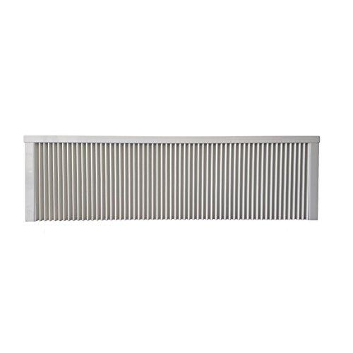 Elektroheizung - Radiator - 2000 Watt - im Set - inkl. Wandmontageset und 1,8m Anschlusskabel - Ohne Thermostat - mit Schamottespeicherkern - Maße: (LxHxT) 1330x380x80 - Lagerware