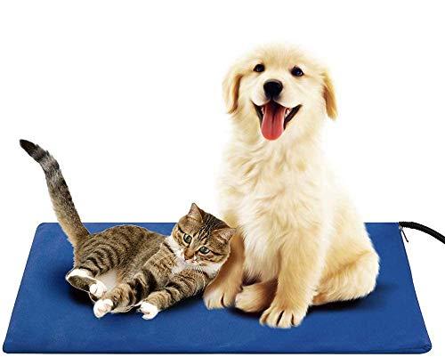 Haustier Heizkissen Heizdecke Wärmedecke für Katzen Hund - Timing und Temperatur einstellbar sichere elektrische Haustier Heizdecke IP67 wasserdicht und bissfest Doppelmantel austauschbar (65*40cm)