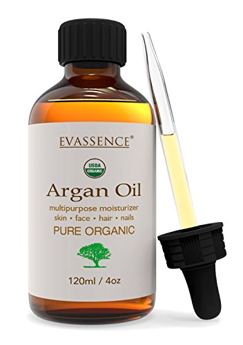 Argan Oil 100% Usda Natural Organic (4oz) Virgin Cold Pressed Moroccan Oil Multipurpose for Hair, Face, Skin and Nails Moisturizing Hair Oil Vitamin E