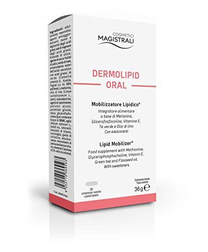 COSMETICI MAGISTRALI Dermolipid Oral Integratore Alimentare, Mobilizzatore Lipidico, 30 Compresse