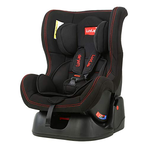 LuvLap Sports Convertible Car Seat for Baby & Kids from 0 Months to 4 Years (Black)