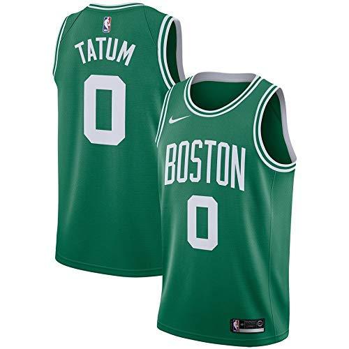 Lalagofe Jason Tatum Boston Celtics #0 Verde Basket Jersey Maglia Canotta, Swingman Ricamata, Stile di Abbigliamento Sportivo (M, Verde)
