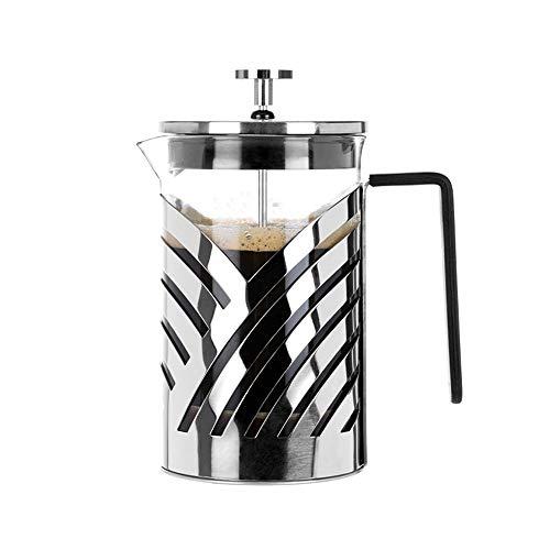 Lwieui Französisch Press Pot Französisch Press Pot Hand Kaffeemaschine Appliance Haushalts Glastee Brüheinrichtung Cafetier (Farbe : Stainless Steel, Size : 600ml)