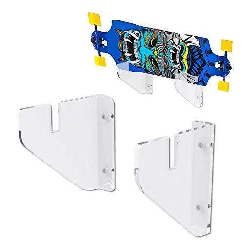 Morningtime wandhouder voor skateboard acryl transparant skateboard houder wandhouder voor wakeboard kiteboard snowboard longboard