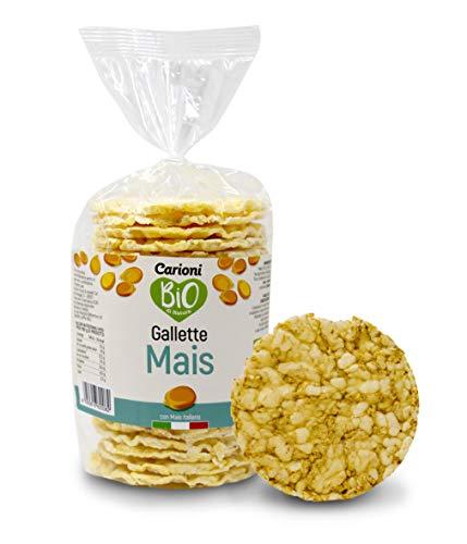 Carioni Food & Health Gallette al Mais biologiche, 100g (Confezione da 12 Pezzi)