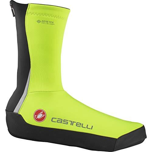 castelli Intenso Ul Shoecover - Cubrezapatos de Ciclismo Unisex para Adulto, Unisex Adulto, 4520538, Yellow Fluo, X-Large