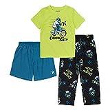 Hurley Boys' Pajama Set, Black/Blue/Lime, 12