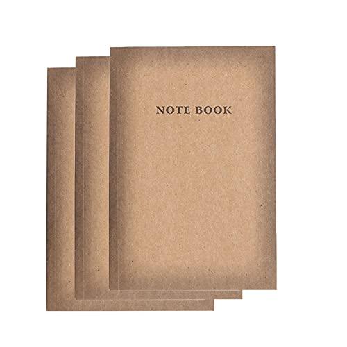 FACHAI Cuaderno A5, paquete de 3 diario 2021, planificador con pestañas mensuales, cuaderno kraft con cubierta marrón forrado, diario de tapa dura de papel grueso premium, 12 x 20,3 cm