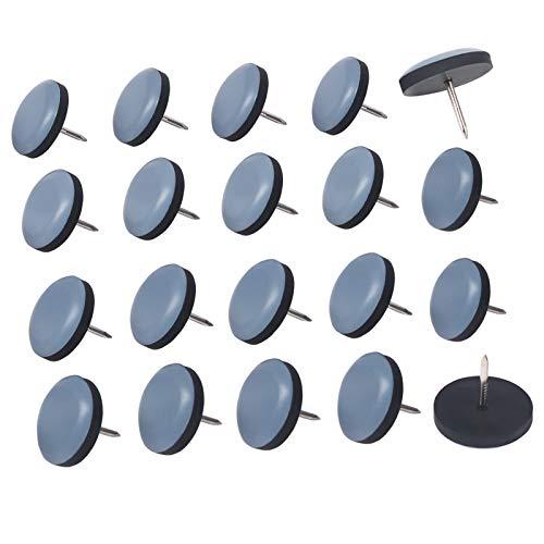 Möbelgleiter, 20 Stück Teflon Stuhlgleiter Mit Nagel für Geflieste, Hartholz Böden (Blau)