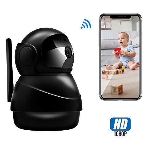 Veroyi IP Kamera Full HD 1080P WiFi Überwachungskamera mit Pan/Tilt/Zoom-Funktion, Zwei-Wege-Audio-Nachtsichtkamera