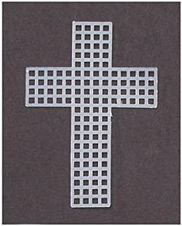 Darice 10-Piece Cross Shape Plastic Canvas, 3-Inch, Clear