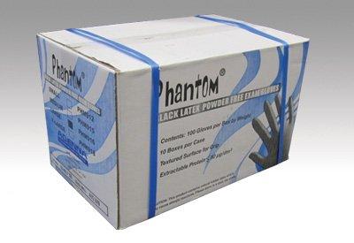 Phantom Black Latex Gloves- Examination Grade