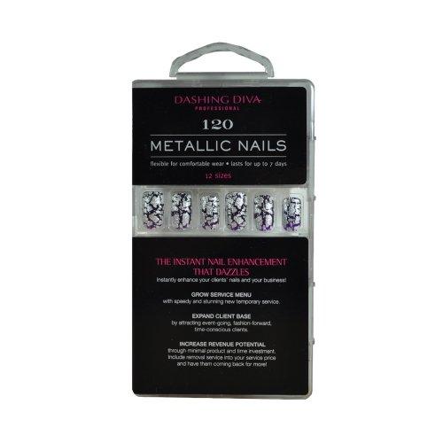 Dashing Diva Metallic Nails, Heavy Metal, 120 Count by Dashing Diva