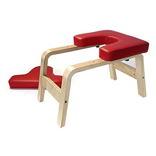 Yoga Hocker Kopfstand, Yoga Stuhl Für Starter-Sets,Kopfstandhocker mit Holz Und PU Fitnessgeräte für lindern Sie Müdigkeit und Bauen Sie Körper auf