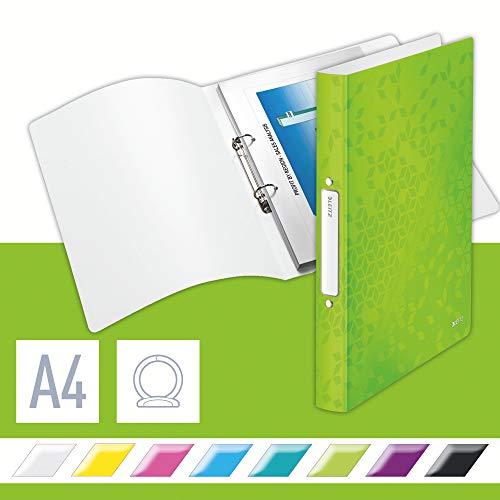 Leitz WOW Ringbuch, A4, 32 mm Rückenbreite, für bis zu 190 Blatt, Grün, WOW, 42570054