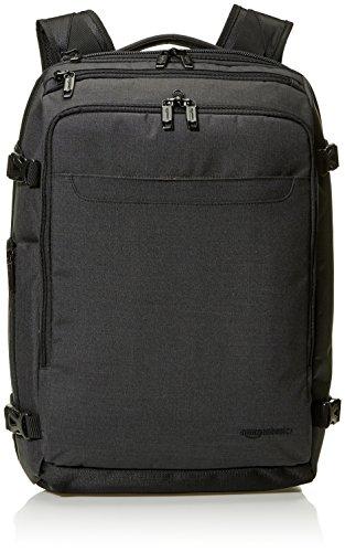 Amazon Basics - Mochila compacta de viaje, Negro, para viajes de fin de semana