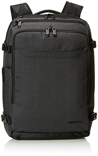 AmazonBasics Slim Carry On Travel Backpack, Black - Weekender