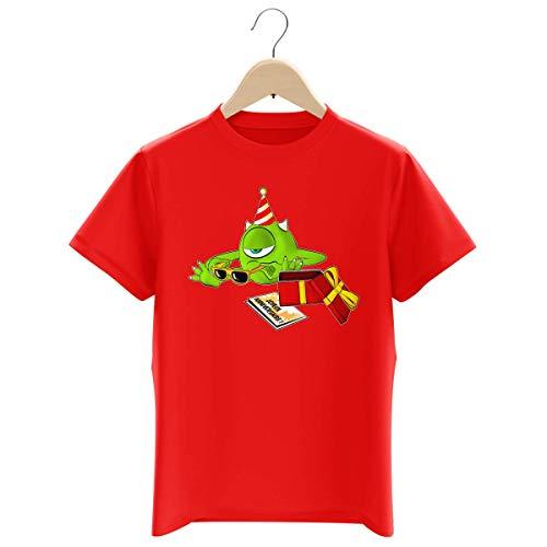 T-shirt Enfant Garçon Rouge parodie Monstres et Compagnie - Bob le meilleur ami de Sully - Un cadeau qui fait plaisir.... :) (T-shirt enfant de qualité premium de taille 9-10 ans - imprimé en France)
