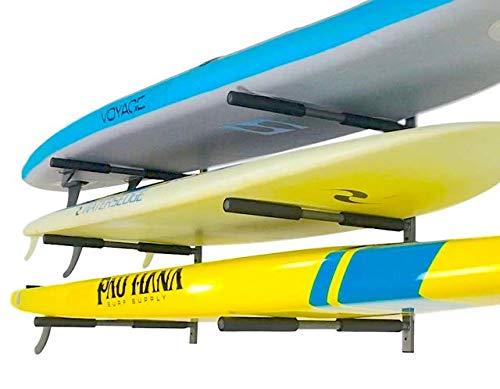 StoreYourBoard SUP Rack, 3 Paddleboard Wall Storage