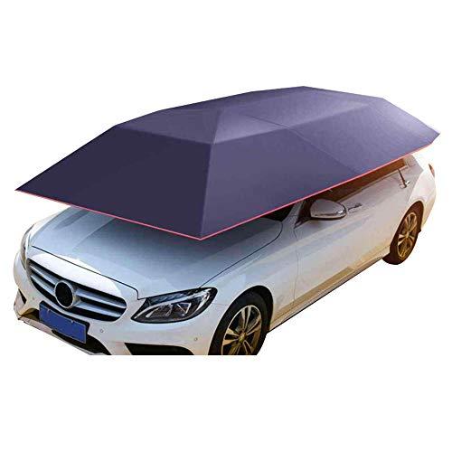 HOBU Tragbarer beweglicher Carport zusammengeklappt, Schutz Sonnenschutz Anti-UV-Carport zusammengeklappt, Auto Windschutzscheibe Sonnenschutzabdeckung, Auto Sonnenschirm.