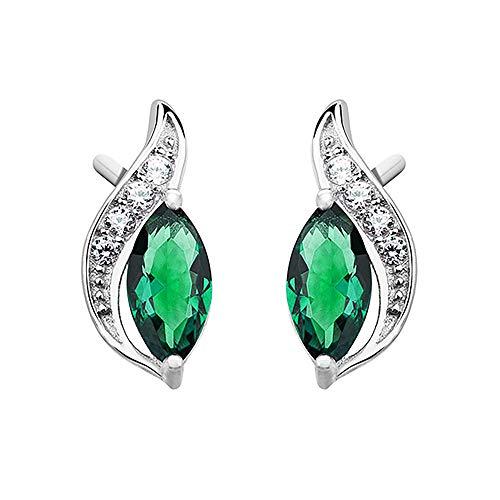 *Beforya Paris* *Tear Marquise* Smaragd - Beste Ohrringe mit Swarovski® Zirconia - Silber 925 Damen Ohrringe mit Kristallen von Swarovski - Wunderbare Ohrringe